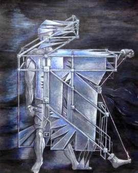 CONTRACT - technika mieszana na papierze , 25 cm x 33 cm, 2016