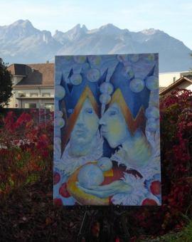 KINGS OF THE ALPS - olej na płótnie, 70 cm x 100 cm 2017