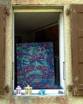 ON THE OTHER SIDE - olej na płótnie, 80 cm x 100 cm, 2018