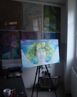 SUMMER SOLSTICE - olej na płótnie, 100 cm x 70 cm 2017