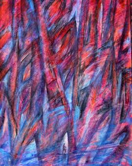 NDEPENDENT - technika mieszana na papierze, format 60 cm x 80 cm, 2017