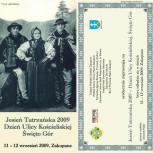 19.Tatrzańska Jesień,Święto Ulicy Kościeliskiej, zaproszenie