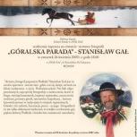 25.Góralska Parada - Stanisław Gał,zaproszenie