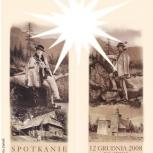 37.spotkanie wigilijne mieszkańców starówki zakopiańskiej, zaproszenie - awers