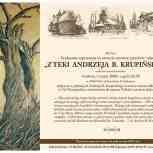 9.Afisz, wystawa rysunku i malarstwa Z teki Andrzeja B. Krupińskiego