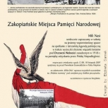15.afisz, wydarzenie rocznicowe Zakopiańskie Miejsca Pamięci Narodowej, Zakopane