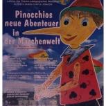 19.Plakat teatralny do spektaklu dla dzieci Z Pinokiem przez świat bajek,Teatr Narodowy w Weimarze.